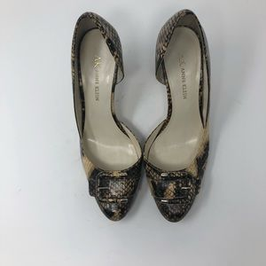 Women's Anne Klein snake print heel size 6 1/2M